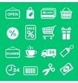 Web icon set Shopping pictogram vector image