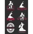 Set Logos and Badges Flamenco vector image
