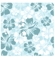 Hibiscus seamless background vector image vector image