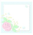 paper pastel rose vector image