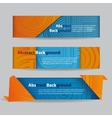 Abstract Banners with Ribbon vector image