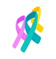 Awareness ribbons 3d isometric icon vector image