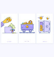 bitcoin wallet logo with bank card trolley with vector image