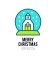 christmas church isolated icon vector image