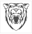 Grizzly bear head - emblem vector image