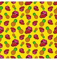 Lips and Pineapples Seamless Pattern vector image