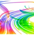 Rainbow colors abstract lines background vector image