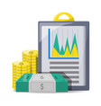 set investment and financial icons vector image