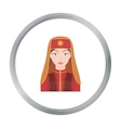 Turkish woman icon in cartoon style isolated on vector image