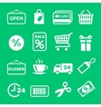 Web icon set Shopping pictogram vector image