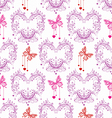 seamless FLORAL and butterfly background vector image vector image