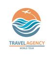 travel logo design vector image vector image