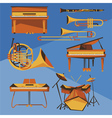 Musical Instruments Collection vector image vector image