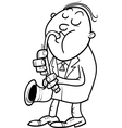 man with saxophone coloring page vector image