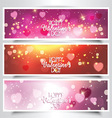 Valentines Day headers vector image
