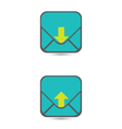 Download And Upload Icons 43 vector image vector image