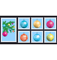 Stamps set vector image vector image