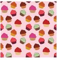 Seamless cupcakes background vector image vector image