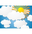cloudscape with sun vector image