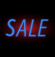 For sale sign neon light vector image