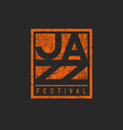Music jazz festival mockup poster orange graphic vector image