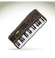 Music keyboard vector image