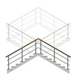 Stair with handrails stairs ladder in vector image
