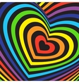 valentines day card Three-dimensional volumetric vector image
