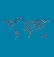 Water Drops World Map vector image