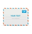 detailed envelope and text banner vector image vector image