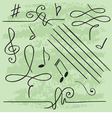 elements for musical design vector image