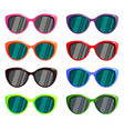 a set of colored glasses for the sun vector image