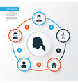person icons set collection of scientist user vector image