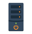 computer flat icon pc and office vector image