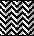 black and white zigzag seamless pattern vector image vector image
