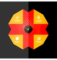 Vintage retro geometric infographic banner vector image vector image