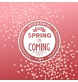 Hello spring is coming vector image vector image