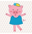 Cute fashionable pig vector image vector image