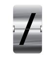 Alphabet silver flipboard letters slash vector image vector image