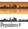 Providence skyline in orange vector image