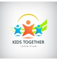 colorful kids logo children friendship vector image