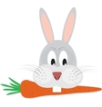 Rabbit with carrot in his mouth vector image