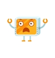 Shocked Little Robot Character vector image