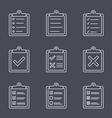 Check List Line Icon vector image