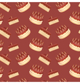 Cute cartoon seamless pattern with birthday cakes vector image