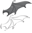 bat wings vector image vector image