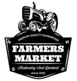 monochrome pattern with vintage tractor on vector image