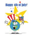 4th July cartoon vector image