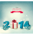 Happy new year 2014 New year design template vector image