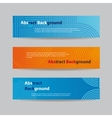 Abstract Blue and Orange Banners vector image